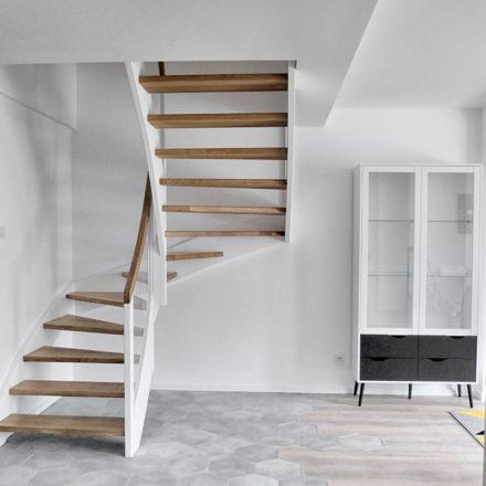 schody drewno
